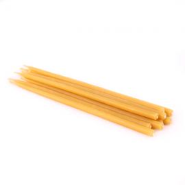 Свечи восковые натуральные Набор 10 шт 15 см желтые.